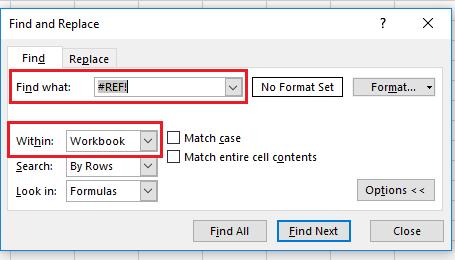 Търсене на грешки в Excel с CTRL+F p.1