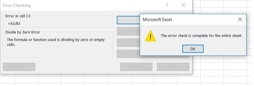 Търсене на грешки в Excel с Error Checking p.7