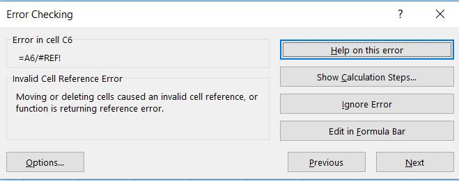 Търсене на грешки в Excel с Error Checking p.2