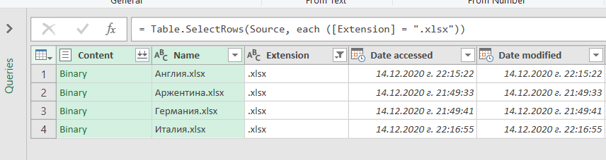 Power Query From Folder