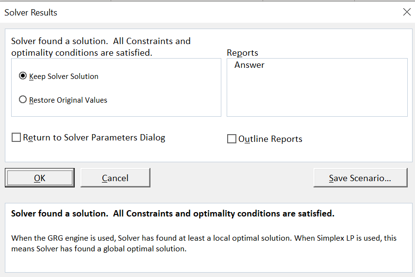Solver в Excel